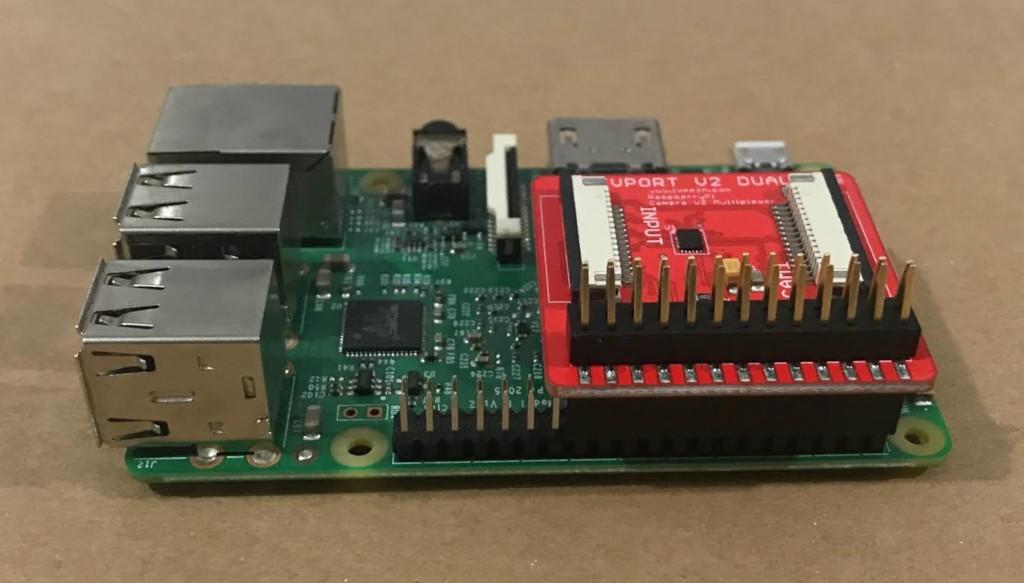 IVPort Dual V2 Raspberry Pi Camera Module V2 Multiplexer