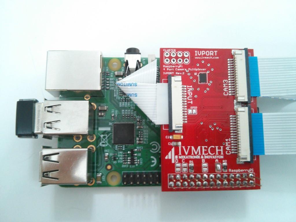 IVPort Raspberry Pi Camera Module Multiplexer